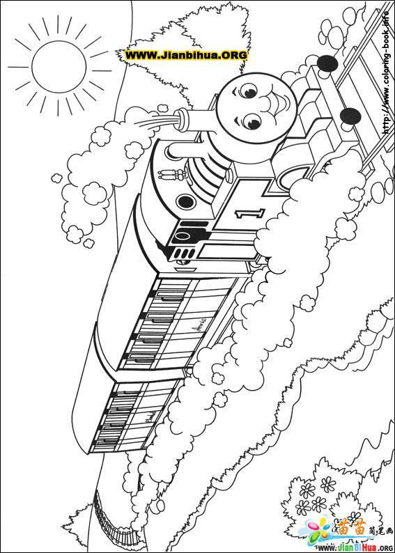 托马斯与小火车简笔画39张(第26张); 托马斯与小火车简笔画39张(第2