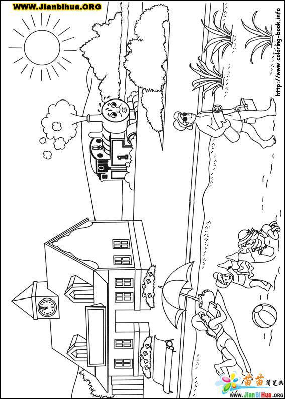 托马斯与小火车简笔画39张(第27张)