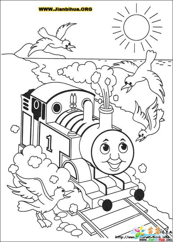 托马斯与小火车简笔画39张 第29张