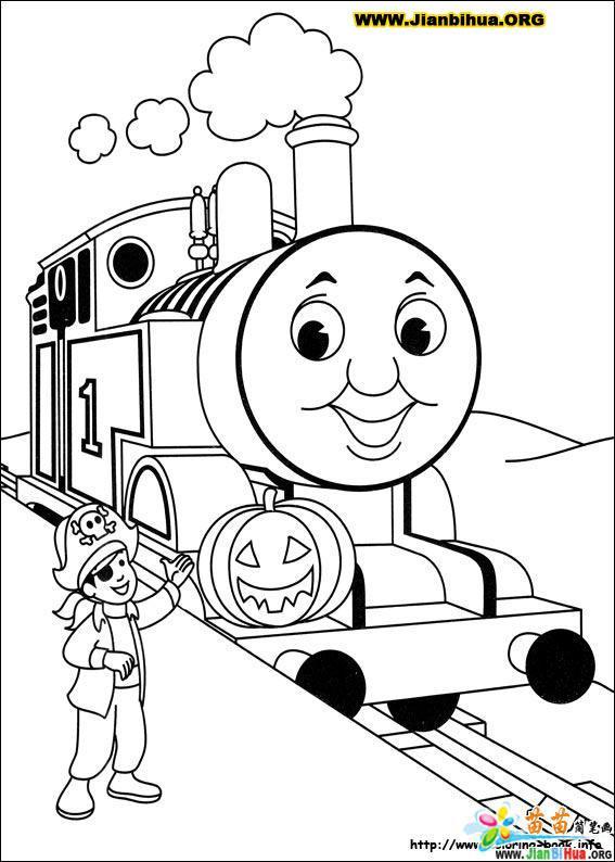 托马斯与小火车简笔画39张 第33张