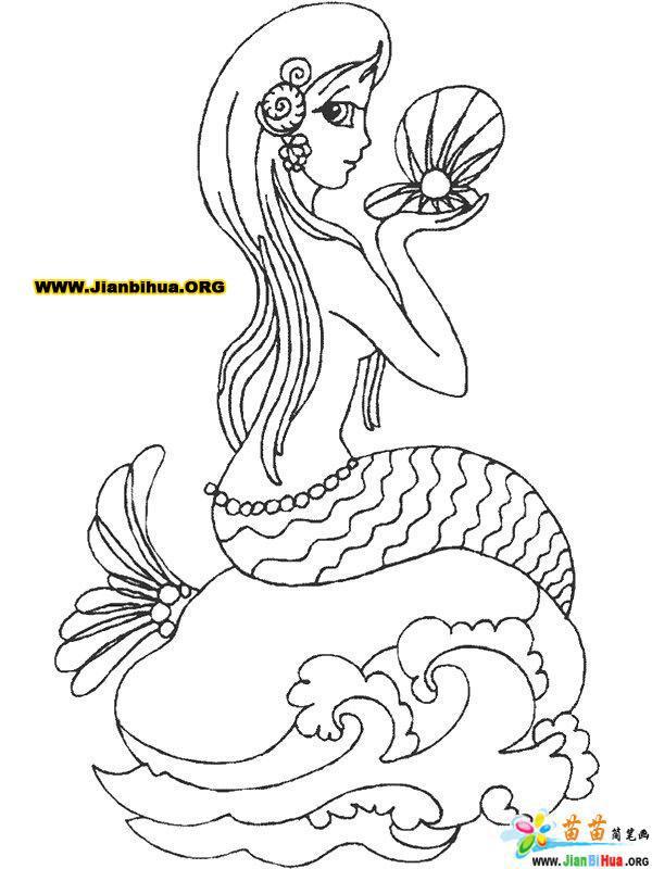 美人鱼简笔画图片--怒海娇娃29张(第8张)