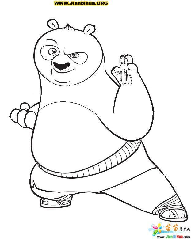 功夫熊猫简笔画图片12张 第19张