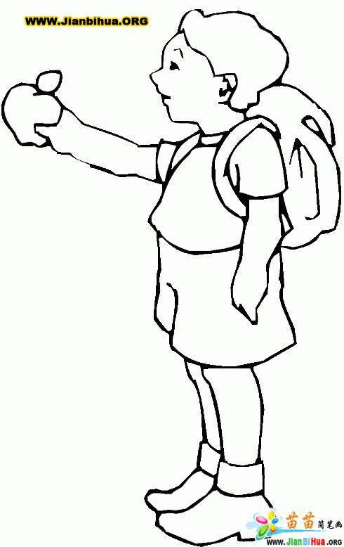 小学生风景简笔画图片大全_小学生简单素描画图片