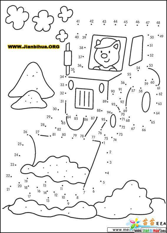 数字连线的简笔画图片19张 第18张