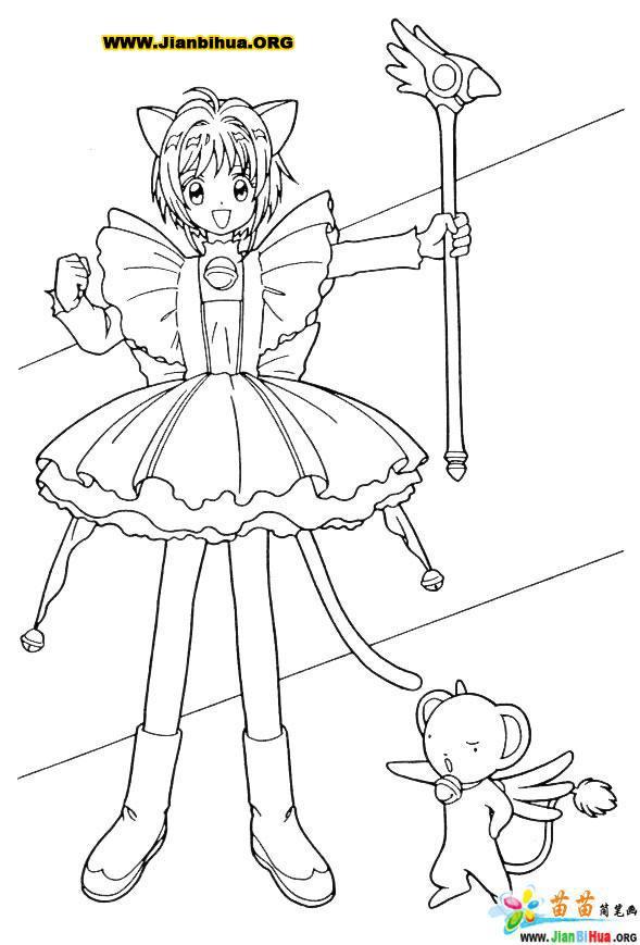 樱花大战简笔画作品8张 日本动画片篇图片