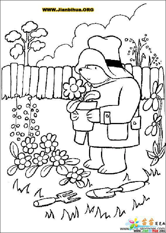 帕丁顿熊简笔画33张图片
