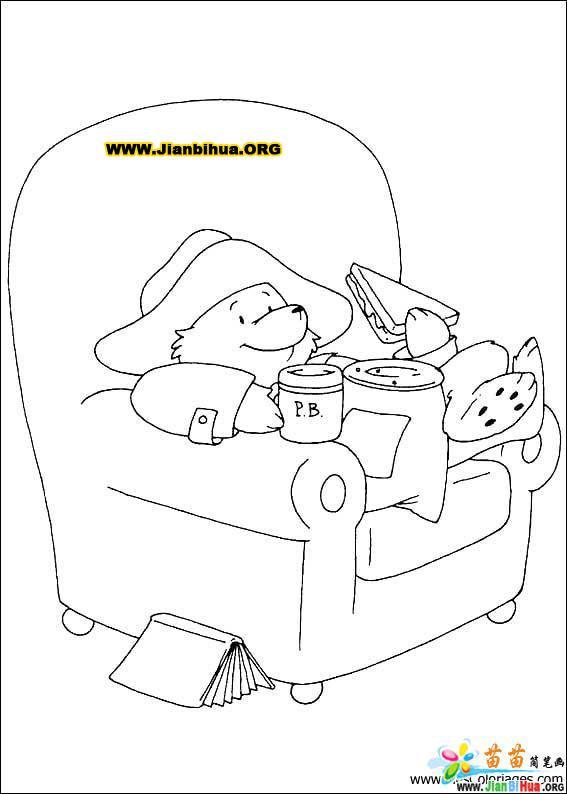 小熊简笔画教程视频_帕丁顿熊简笔画33张图片(第16张)