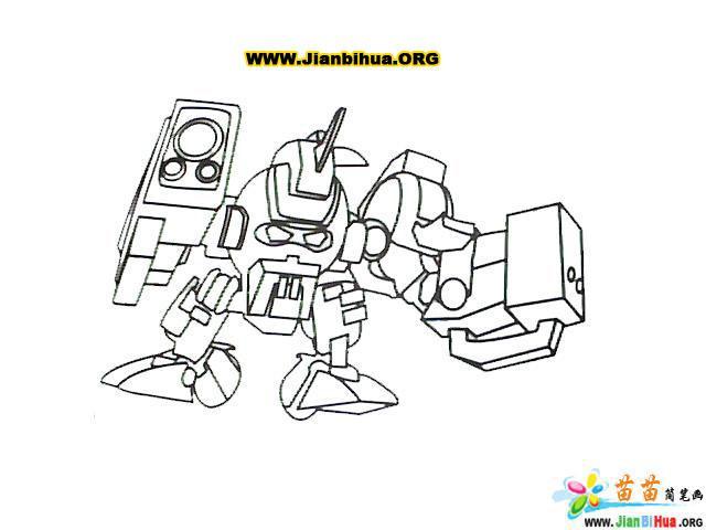 高达机器人简笔画