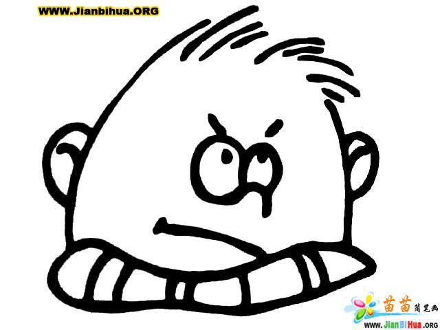 发怒1笔画简表情了热都表情包花妆的5张(第2张)图片