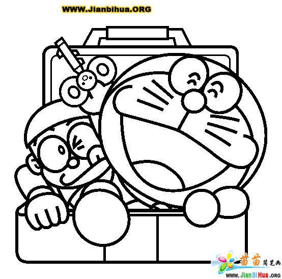 哆拉A梦 机器猫 简笔画25张 第2张
