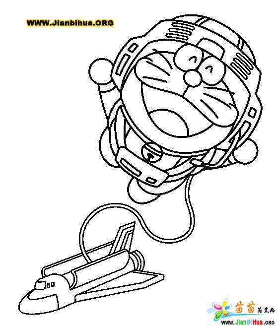 哆拉A梦 机器猫 简笔画25张 第10张