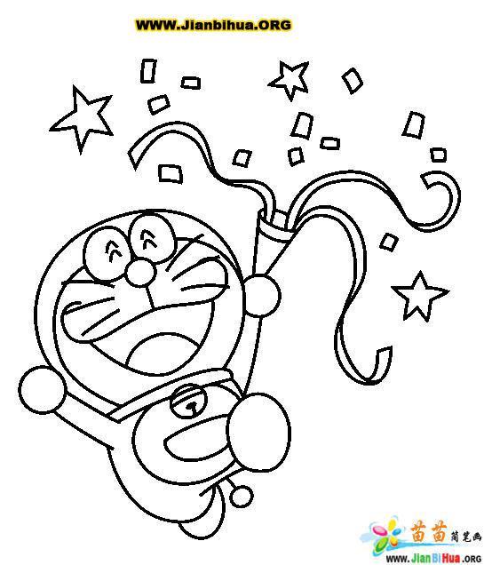 哆拉A梦 机器猫 简笔画25张 第9张