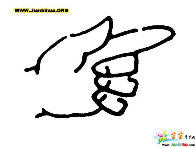 手的简笔画6张(人体五官篇)