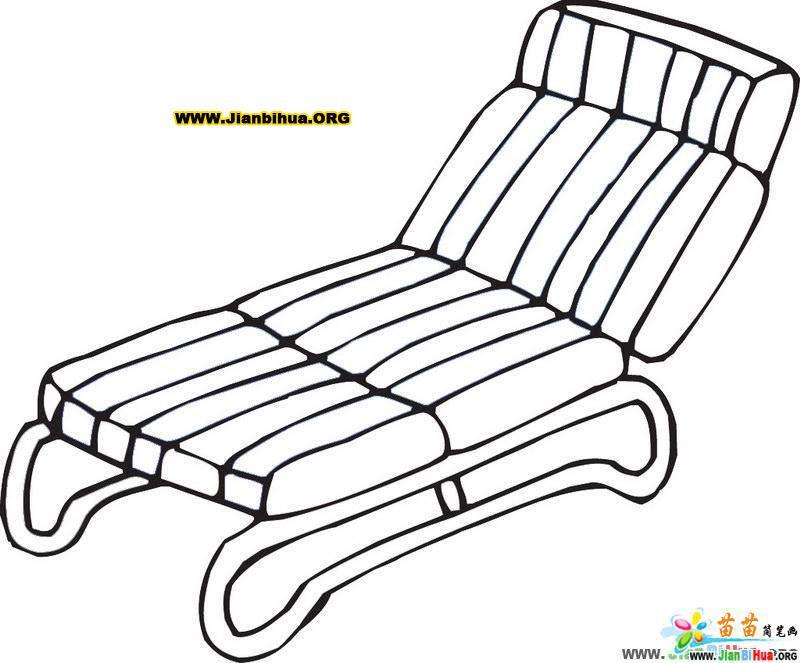 靠椅简笔画 摇椅简笔画 小椅子简笔画图片8张 第4张