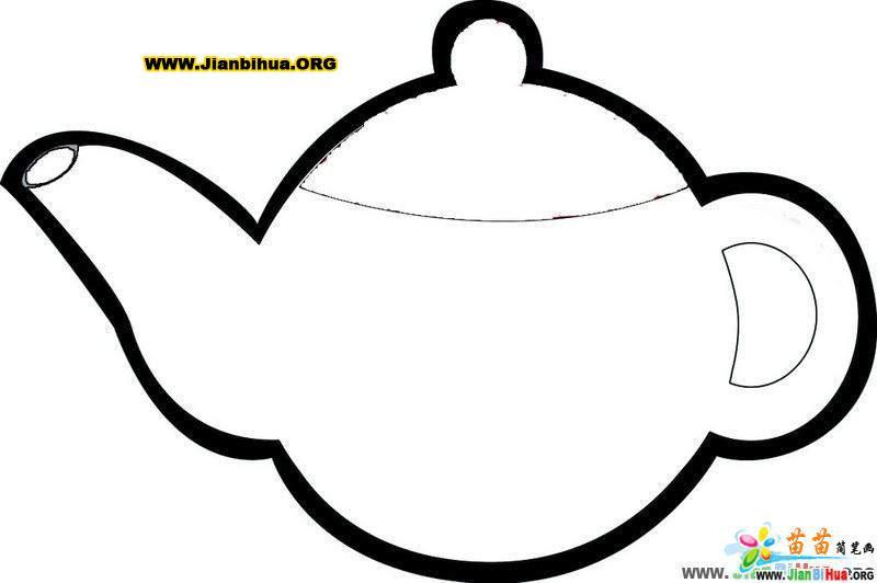 日常用品简笔画 茶壶6张 第2张