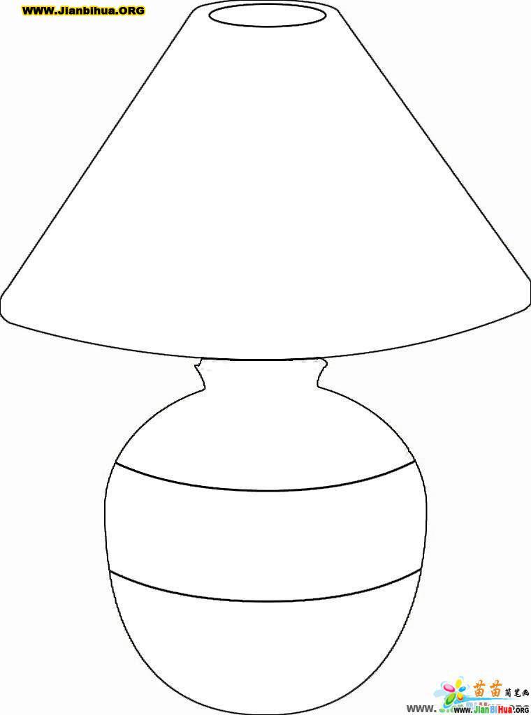 台灯简笔画画法图解