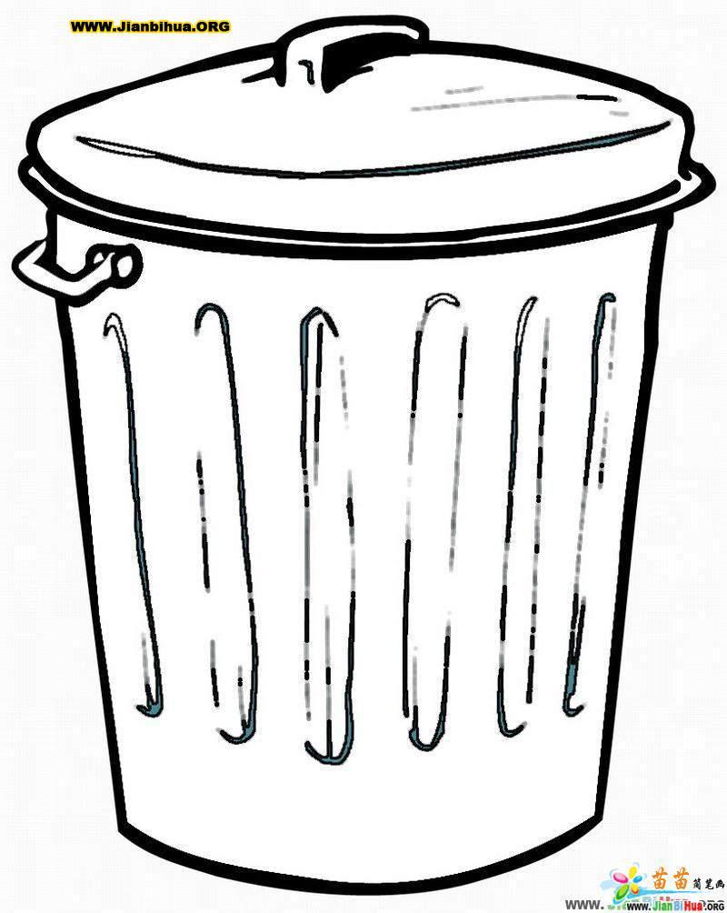 垃圾桶简笔画_垃圾箱简笔画图片5张