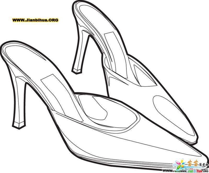 高跟鞋简漫画的笔画兔小兔画法图片