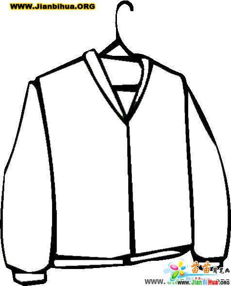 服装服饰简笔画 夹克