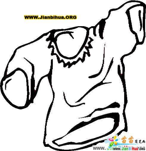 服装服饰简笔画图片——短袖篇8张(第5张)