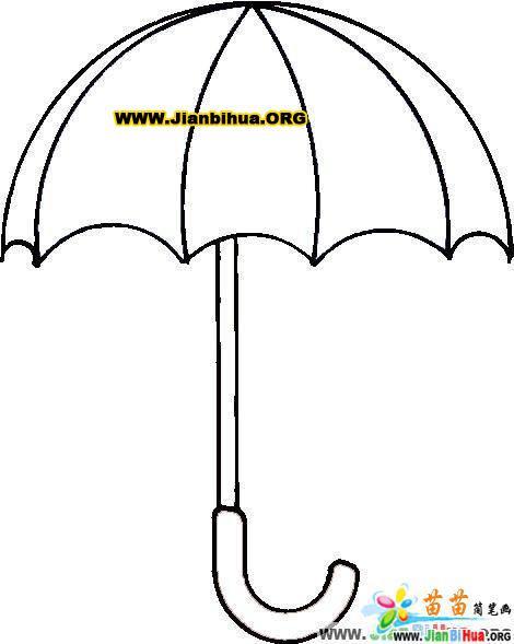 雨伞简笔画图片大全 5张