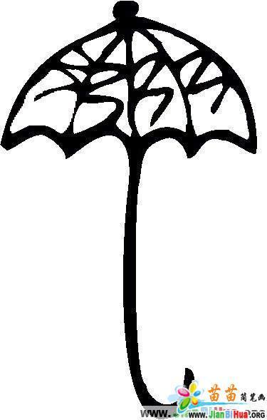 怎么画漂亮的洋伞简笔画的教程 雨伞简笔画 儿童简笔画图片大全
