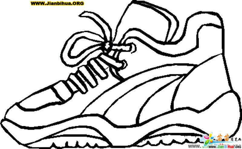 鞋的简笔画画法 运动鞋7张