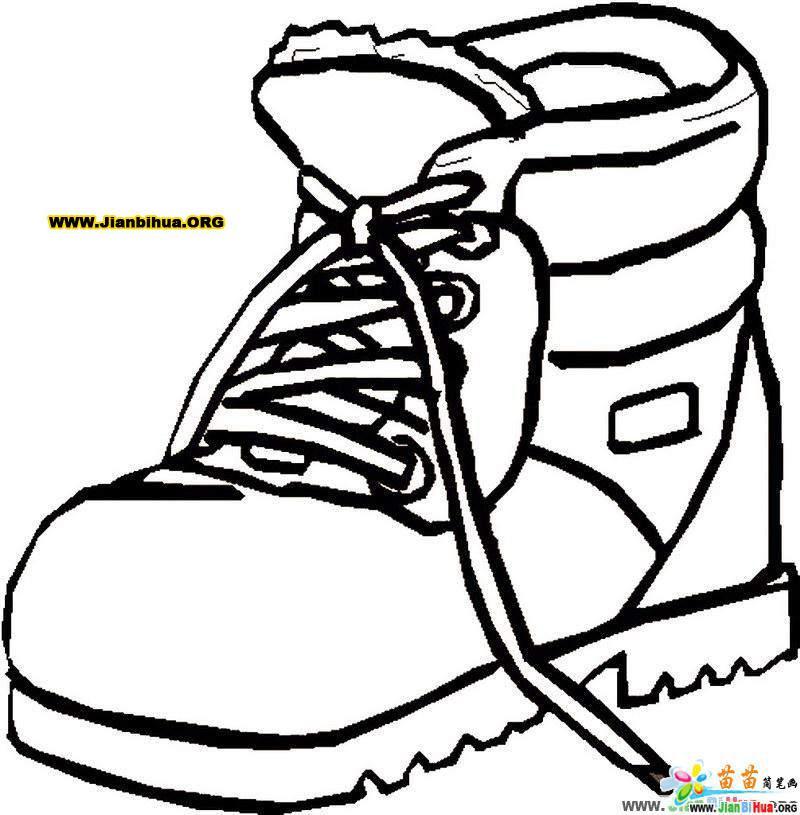 鞋的简笔画画法 运动鞋7张 第6张