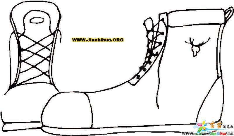 幼儿简笔画鞋子