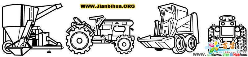 农业机械简笔画作品(6张)