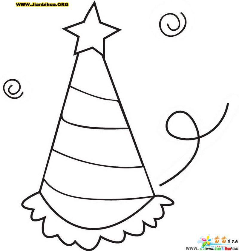 高顶帽简笔画图片-幼儿简笔画-51自学网