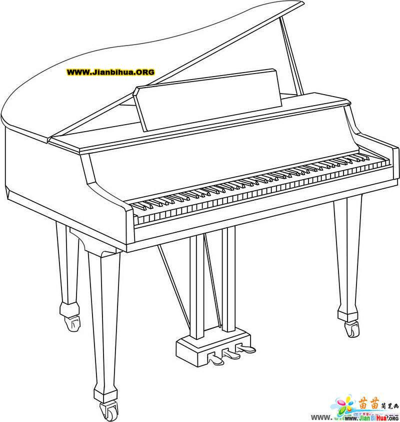 钢琴简笔画图片 3张 第2张