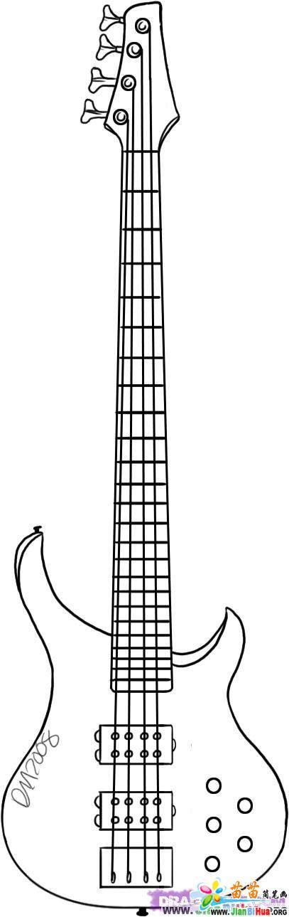 吉它简笔画7张(乐器篇)