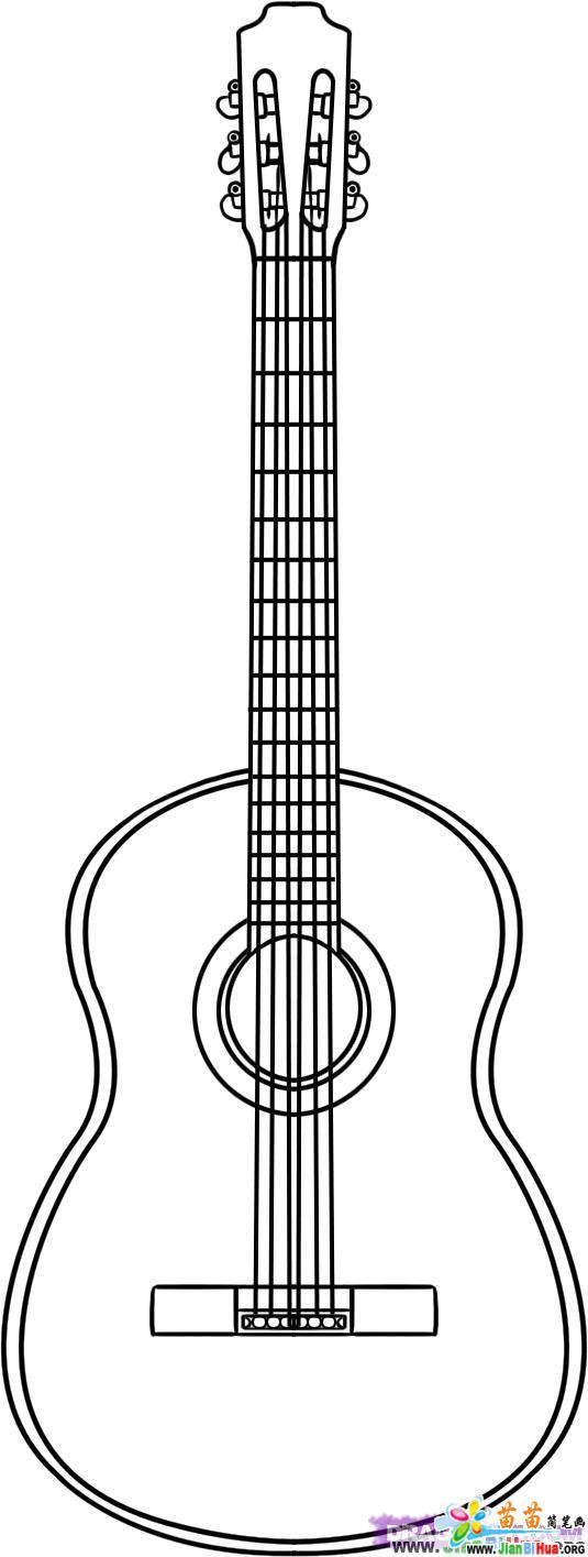 吉它简笔画7张 乐器篇 第2张