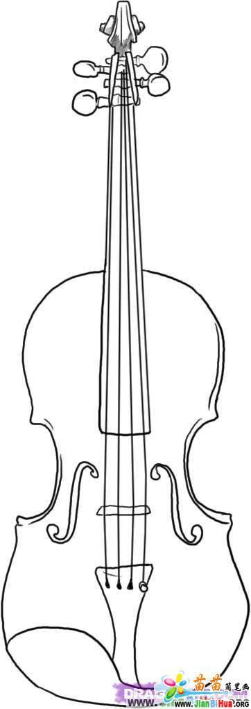 动物简笔画的狼的飞机简笔画的画法图片9张 简笔画-房子的小提琴简笔