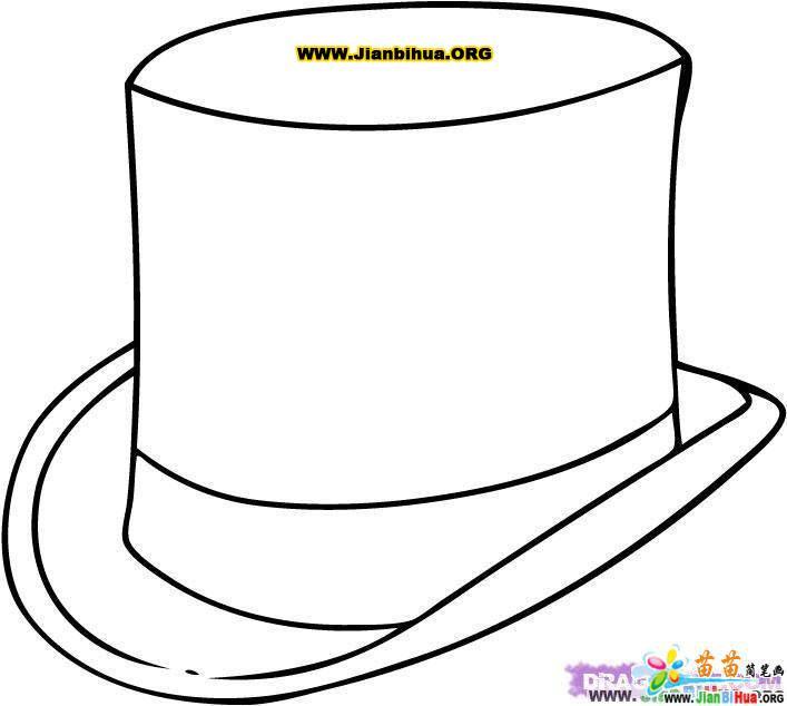 帽子简笔画作品欣赏
