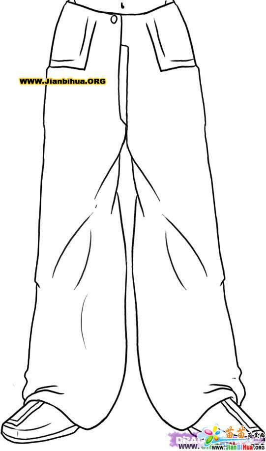 裤子简笔画图片