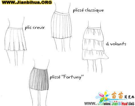 如何画短裙简笔画教程图片