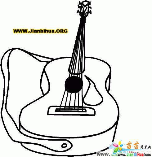吉它简笔画7张 乐器篇 第7张