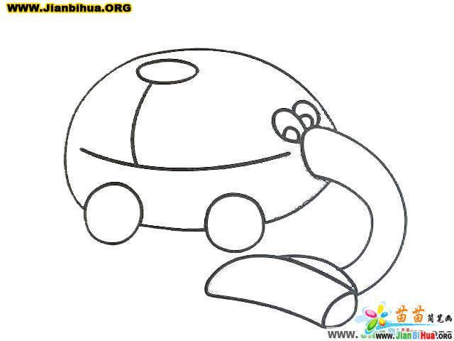 吸尘器简笔画(清扫工具)