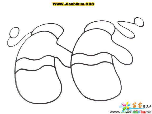 手套简笔画的画法