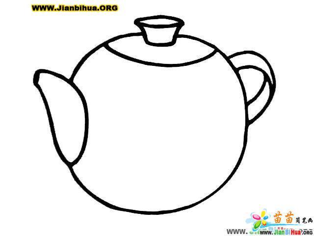 日常用品简笔画 茶壶6张 第5张