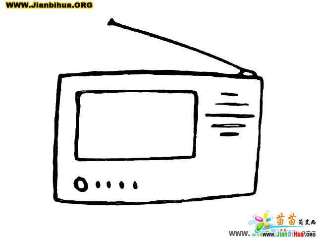 电器收音机简笔画_音响简笔画图片
