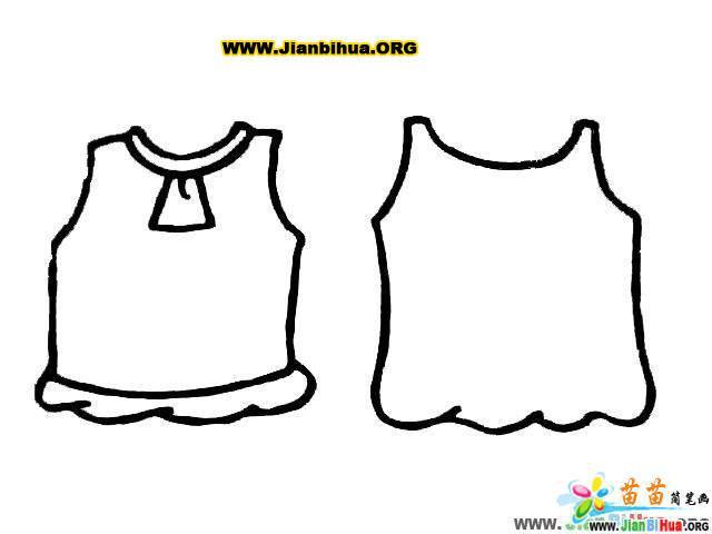 各种衣服的简笔画画法7张(第4张)-28kb