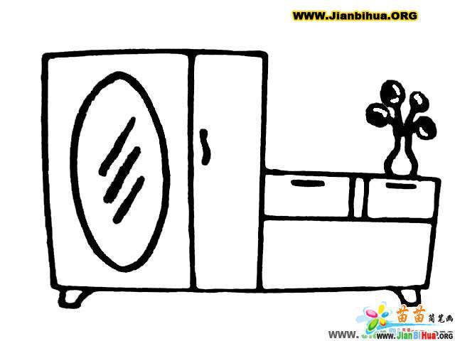 大衣柜和晾衣架简笔画图4张 第6张