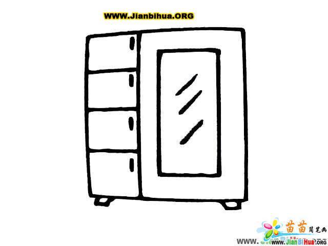 大衣柜和晾衣架简笔画图4张 第7张