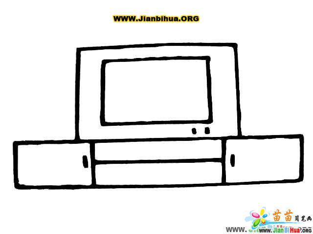 电视柜简笔画的画法