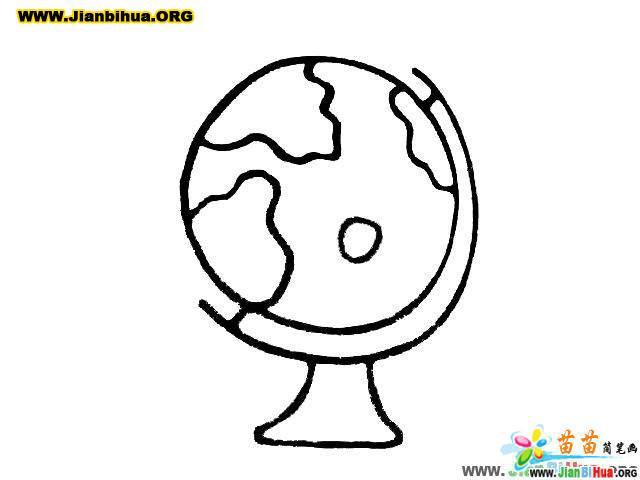 地球仪卡通图片简笔画