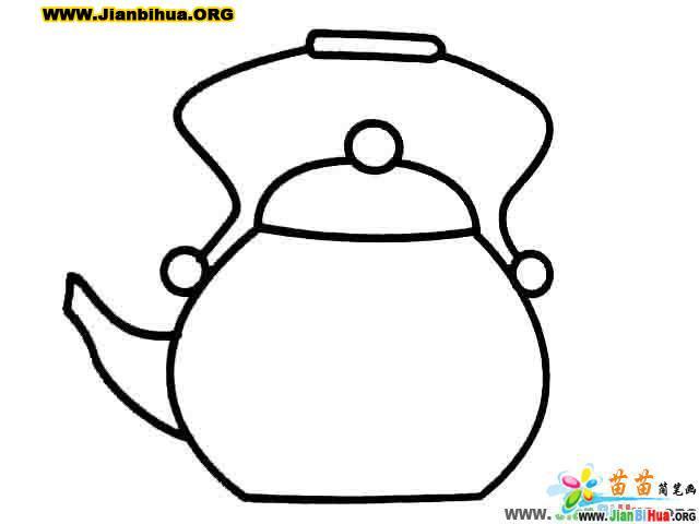 杯子简笔画 茶壶简笔画 碗的简笔画 勺子简笔画图片4张 第2张