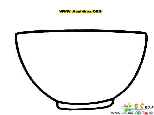 杯子简笔画 茶壶简笔画 碗的简笔画 勺子简笔画图片4张 第4张